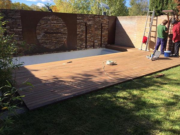 tarima madera exterior